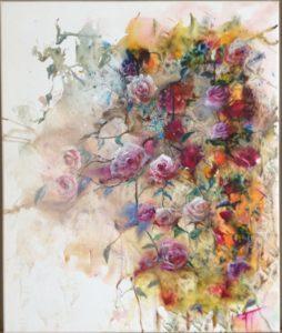 Le ruissellement des roses oeuvre originale de Florence Tyrant