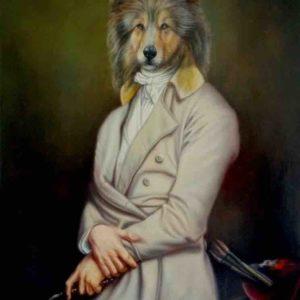 Portrait de Border Collie oeuvre originale de artiste Daniel trammer